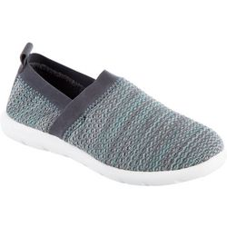 Isotoner Womens Zens Sports Knit Slip-On Slipper
