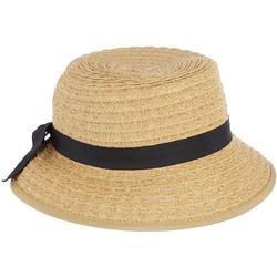 Womens Split Ribbon Straw Hat