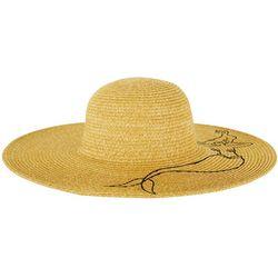 Riviera Womens Mermaid Embroidered Straw Hat