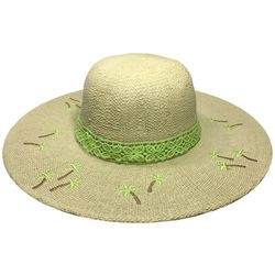 Awayalife Womens Embroidered Palm Straw Hat