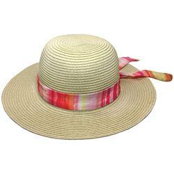 Awayalife Womens Rainbow Banded Straw Hat