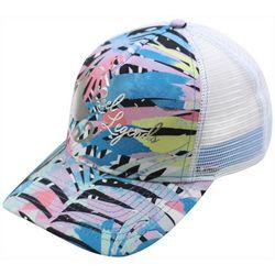 Reel Legends Womens Rainbow Fronds Trucker Hat