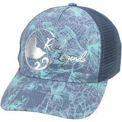 Reel Legends Womens Beach Hibiscus Camo Trucker Hat