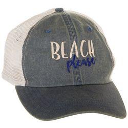 Paramount Apparel Beach Please Vintage Wash Trucker Hat