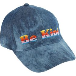 Capelli Womens Be Kind Rainbow Embroidered Denim Cap