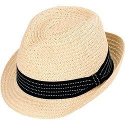 Sun N' Sand Womens Paper Braid Strap Fedora Sun Hat