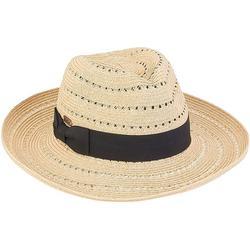 Womens Paper Braid Strap Fedora Hat