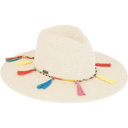 Sun N' Sand Womens Tassel Braided Sun Hat