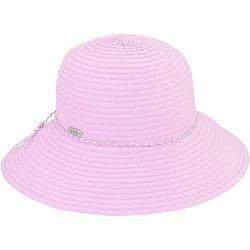 Sun N' Sand Womens Braided Trim Ribbon Hat
