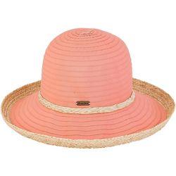 Sun N' Sand Womens Akira Upbrim Ribbon Hat