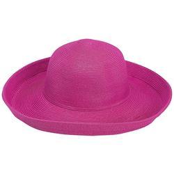 Womens Solid Upbrim Sun Hat
