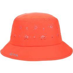 CTR Womens Floral Laser Cut Summer Bucket Hat