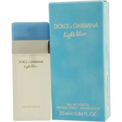Dolce & Gabbana Womens Light Blue Edt Spray 0.8Oz