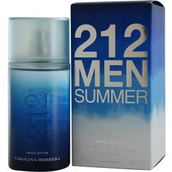 Carolina Herrera Mens 212 Summer EDT Spray 3.4 oz.