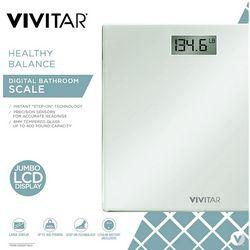 Vivitar Healthy Balance Jumbo LCD Glass Bathroom Scale