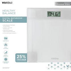 Vivitar Healthy Balance Glass Digital Bathroom Scale