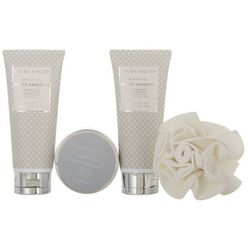 Laura Ashley White Gardenia Spa Bag Set