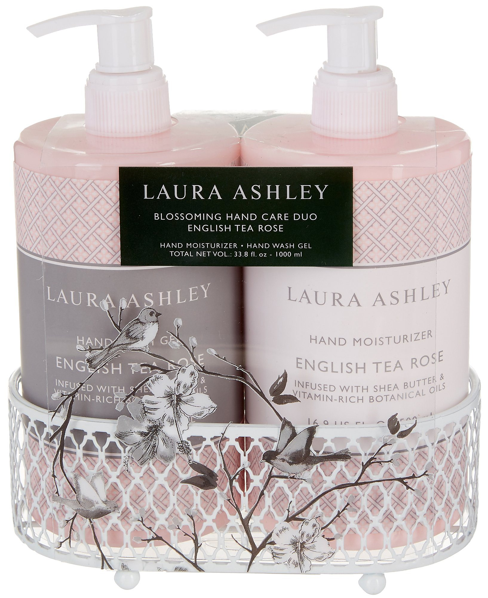 Details About Laura Ashley English Tea Rose Soap Lotion Caddy Set One Size Pink