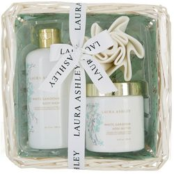 Laura Ashley White Gardenia 3-pc. Body Care Wicker Set