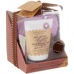 Tuscan Hills French Lavender Foot Lotion & Sock