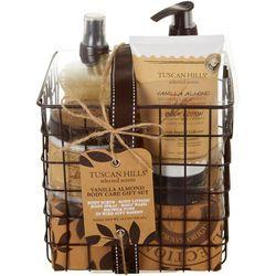 Tuscan Hills Vanilla Almond 5-pc. Wire Basket Body Care Set