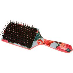 Elite Rectangular Floral Flamingo Paddle Brush