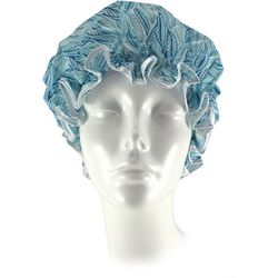 Spa Bella Leaf Print Shower Cap