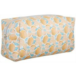 Danielle Lemon Print Rectangular Cosmetic Bag