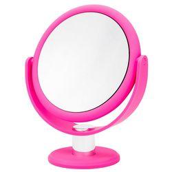 Danielle Hot Pink 10x Magnifying Round Mirror