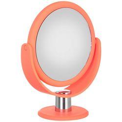 Danielle Neon Orange 10x Magnifying Round Mirror