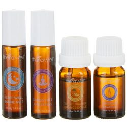 Therawell Harmony 4-pk. Pure Essential Oil Collection