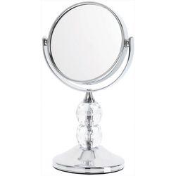 Danielle Silver Tone Double Faux Crystal Mirror