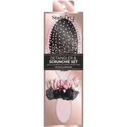 Studio Dry Detangler Brush & Hair Tie Set