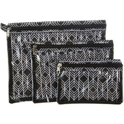 Sage & Emily 3-pc. Lattice Bath & Body Organizer Bag Set