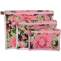 Sage & Emily 3-pc. Floral Bath & Body Organizer Bag Set