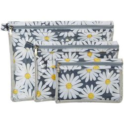 Sage & Emily 3-pc. Daisy Print Bath & Body Organizer Bag Set