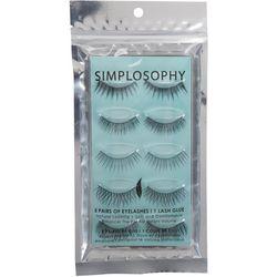 Simplosophy 5 Pairs Eyelashes & Glue