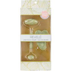 Revele Jade Dual-Sided Facial Roller & Gua Sha Board