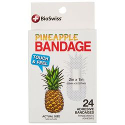 Bioswiss 24-pk. Pineapple Adhesive Bandages
