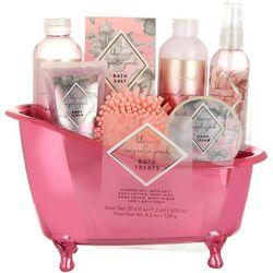 Lila Grace 7-pc. Magnolia Peach Bath Tub Set