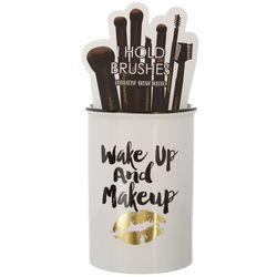 Simple Pleasures Wake Up & Makeup Ceramic Brush Holder