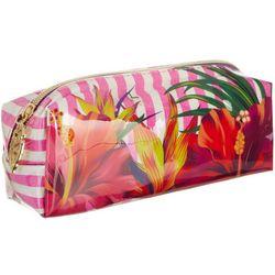 Jade & Deer Floral Stripe Rectangular Cosmetic Bag