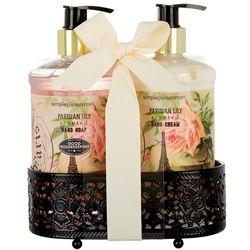 Simple Pleasures Parisian Lily Soap & Lotion Caddy Set