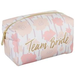 Jade & Deer Team Bride Floral Print Cosmetic Bag