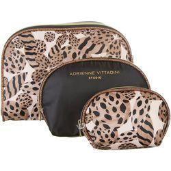 Adrienne Vittadini 3-pc. Animal Flower Dome Travel Bag Set