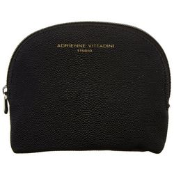 Adrienne Vittadini Black Stingray Medium Dome Cosmetic Bag