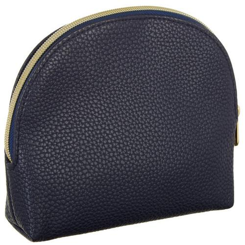 9607cb471c Adrienne Vittadini Navy Blue Pebble Medium Dome Cosmetic Bag ...