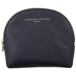 Adrienne Vittadini Navy Blue Pebble Medium Dome Cosmetic