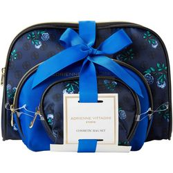 Adrienne Vittadini Floral Print Cosmetic Bag Set