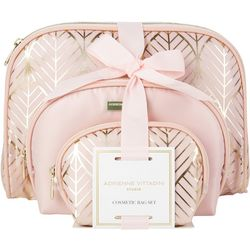 Adrienne Vittadini Leaf Print Cosmetic Bag Set